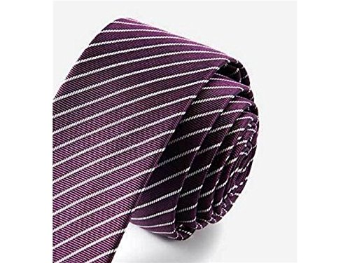 for Men's Kxrzu Fashionable and Necktie Light Occasion Formal Casual Party Wedding Stripe Fashion Purple Xx6xR