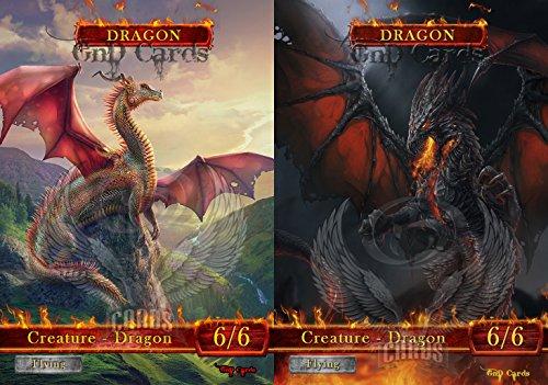 Dragon Pack #1 Custom Tokens MTG (for Utrava Hellkite)