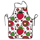 Strawberry Pattern Cooking Aprons Professional Bib Apron For Women Men Girl Kids Gifts Kitchen Decorations