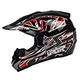 quad helmets for youth - PGR X25 Youth SPARK Motocross MX BMX Dirt Bike Dune Buggy Enduro ATV Quad Off Road (Youth Medium, Red)