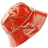 Unisex Rain Water Resistant Bucket Crusher Foldable Fisherman Hat Cap Red 56cm