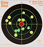 "75 pack - 8"" Reactive Splatter Targets - GlowShot - Multi Color - See Your Hits Instantly - Gun and Rifle Targets - Search GlowShot for all our 6"", 8"" and 10"" Targets (Sports)"