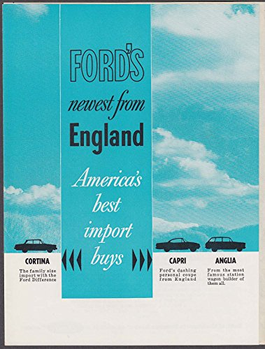 1963 English Ford Cortina Capri Anglia sales brochure ()