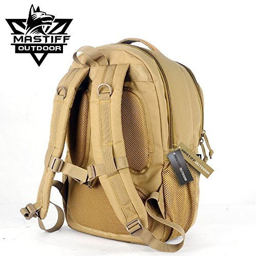 Mastiff Outdoor Tactical Travel Daypack MOLLE Casual School Bookbag Gear Bag TN by Mastiff Outdoor