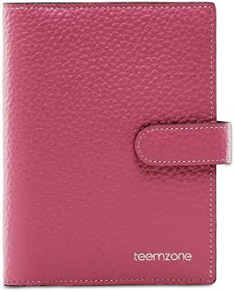 Teemzone Women's Leather Business Credit Id Card Case (K828_Rose)