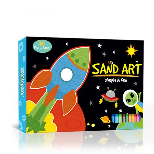 NO Mess - Sand Art Craft Activity Kit (Space Kit)
