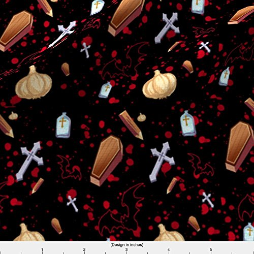 Eco Garlic - Spoonflower Garlic Fabric Vampire Hunter by Terrorbunny Printed on Eco Canvas Fabric by the Yard