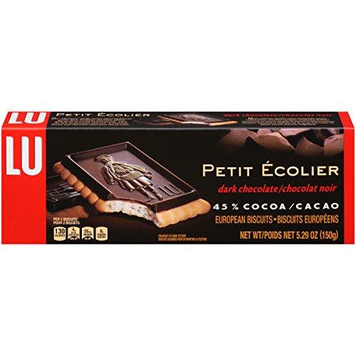 Lu Cookies Le Petit Ecolier Dark Chocolate European Cookies, 5.29 Ounce (Pack of 12)