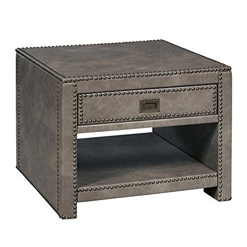24 X 24 Coffee Table.Stylistics Industry Side End Table 24 X 24 X 19 Grey