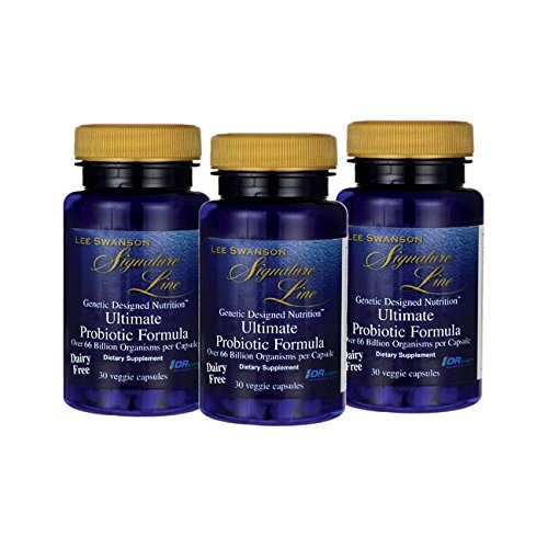 Lee Swanson Signature Line Ultimate Probiotic Formula 3-Pack 66 Billion Cfu 3-30 ct bottles Veg Drcaps (Signature Line)