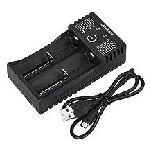 Docooler Lii-202 Smart Battery Charger for 1.2V/3.7V/3.2V/3.85V AA/AAA 18650/18490/18350/16340/14500/10440 NiMH Lithium Rechargeable Batteries