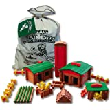 ROY TOY Deluxe Farm Building Set, 250 pcs, Made in The USA