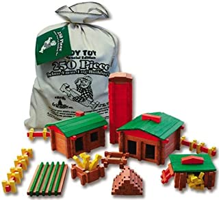 product image for ROY TOY Deluxe Farm Building Set, 250 pcs, Made in The USA