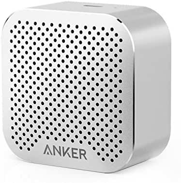 Anker SoundCore nano Bluetooth Speaker with Big Sound, Super-Portable Wireless Speaker with Built-in Mic for iPhone 7, iPad, Samsung, Nexus, HTC, Laptops and More - Silver