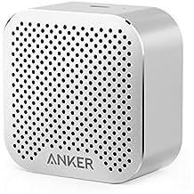 Anker SoundCore Nano Bluetooth Speaker Big Sound, Super-Portable Wireless Speaker Built-in Mic iPhone 7, iPad, Samsung, Nexus, HTC, Laptops More - Silver