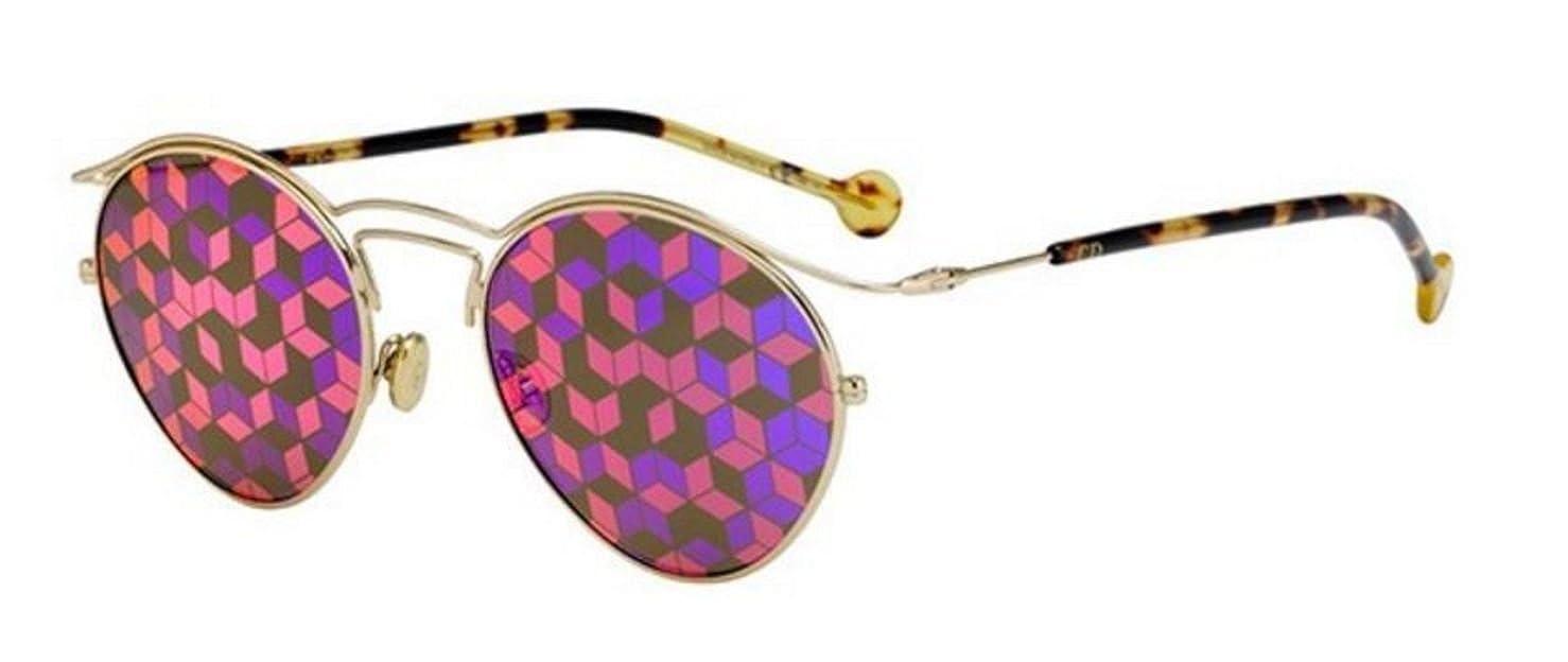 d71d841ad2a Amazon.com  New Christian Dior ORIGINS 1 06J 0Z Gold Havana  Pink Violet  Pattern Sunglasses  Clothing