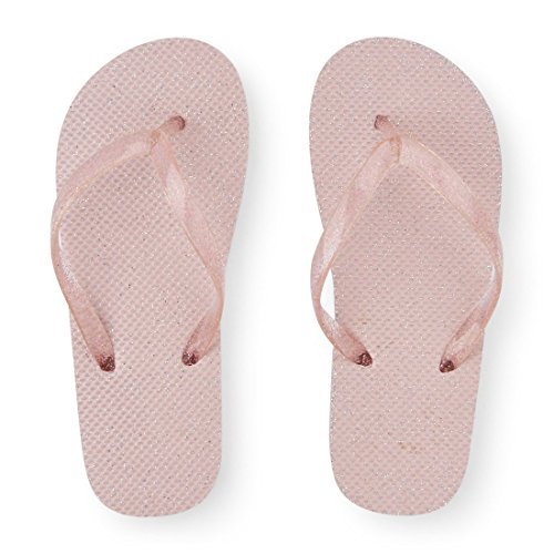 The Children's Place Kids' Bg Glttr Ff Flat Sandal