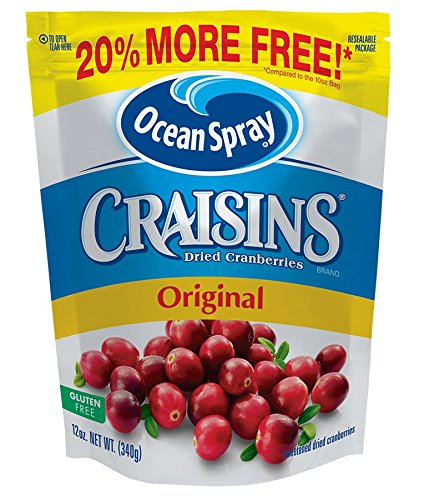 Ocean Spray Craisins, Original, 12-Ounce Bag (Sweetened Cranberries Dried)