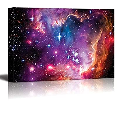 Canvas Prints Wall Art - The Magellanic Cloud is a Dwarf Galaxy and a Galactic Neighbor of The Milky Way - 24