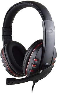 YHONG-Headset Casque de Jeu Son Casque Gaming Effets d'Environnement Personnalisé Stéréo Surround Over-Ear Casque avec Contrôle du Volume sur Casque Micro avec Commutateur, Casque de Jeu PC PS4