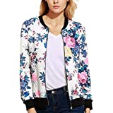 Morecome Women Casual Print Zipper Vintage Blazer Outwear Blouse
