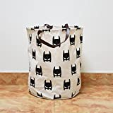 RameyStore Simple Picture Design Canvas Storage Bag for Holding Dirty Cloth Batman