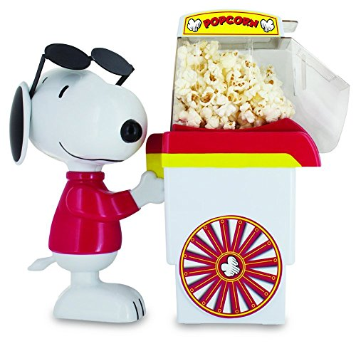 Smart Planet PNP‐1 Peanuts Snoopy Popcorn Cart Air Popper, (Mag Popper)