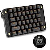 Koolertron Cherry MX Black Programmable Gaming Keypad, Mechanical Gaming Keyboard with 43 Programmable Keys, Single-Handed Keypad Macro Setting, Golden Backlit Can be Turned Off (Cherry MX Black)