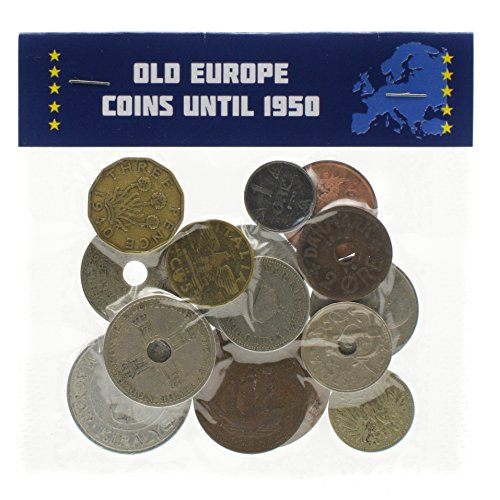 A bag of Old Europe Coins Until 1950 Year Collectible Currency from 19-20 Century Pre-Euro Money (15)