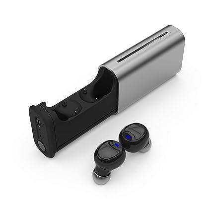 SUNLMG Verdaderamente V5.0 Bluetooth Auriculares Auriculares Dobles Auriculares Bluetooth Estéreo Noisecancelling Auriculares Inalámbricos Deportes