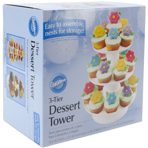 Wilton 307-705 Stacked 3-Tier Dessert Tower for Cupcakes