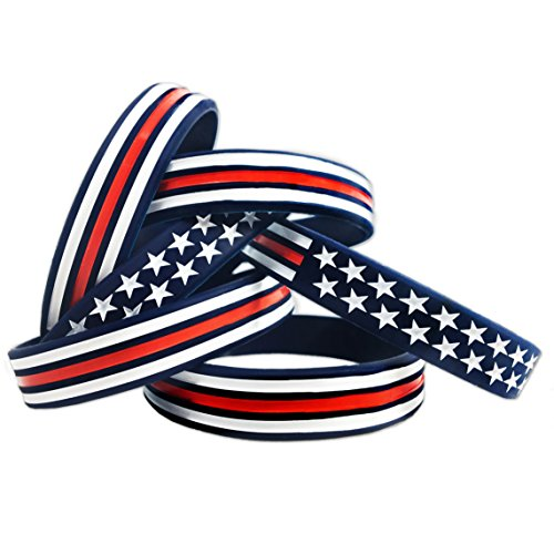 TENKEY Red, White, and Blue American Bracelet (Standard 8