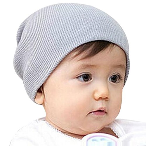 Changeshopping Baby Beanie Boy Girls Soft Cool Hat Winter Warm Knitted Cap (Gray)