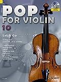 Pop for Violin: Let It Go. Band 10. 1-2 Violinen. Ausgabe mit CD.