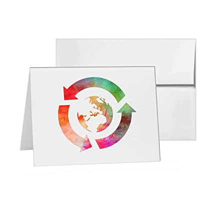 Amazon recycle reuse reduce earth humanity blank card recycle reuse reduce earth humanity blank card invitation pack 15 cards at 4x6 stopboris Image collections