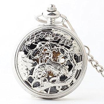 Y&M reloj de bolsillo mecánico / tuba de plata / relojes de moda / mesa de