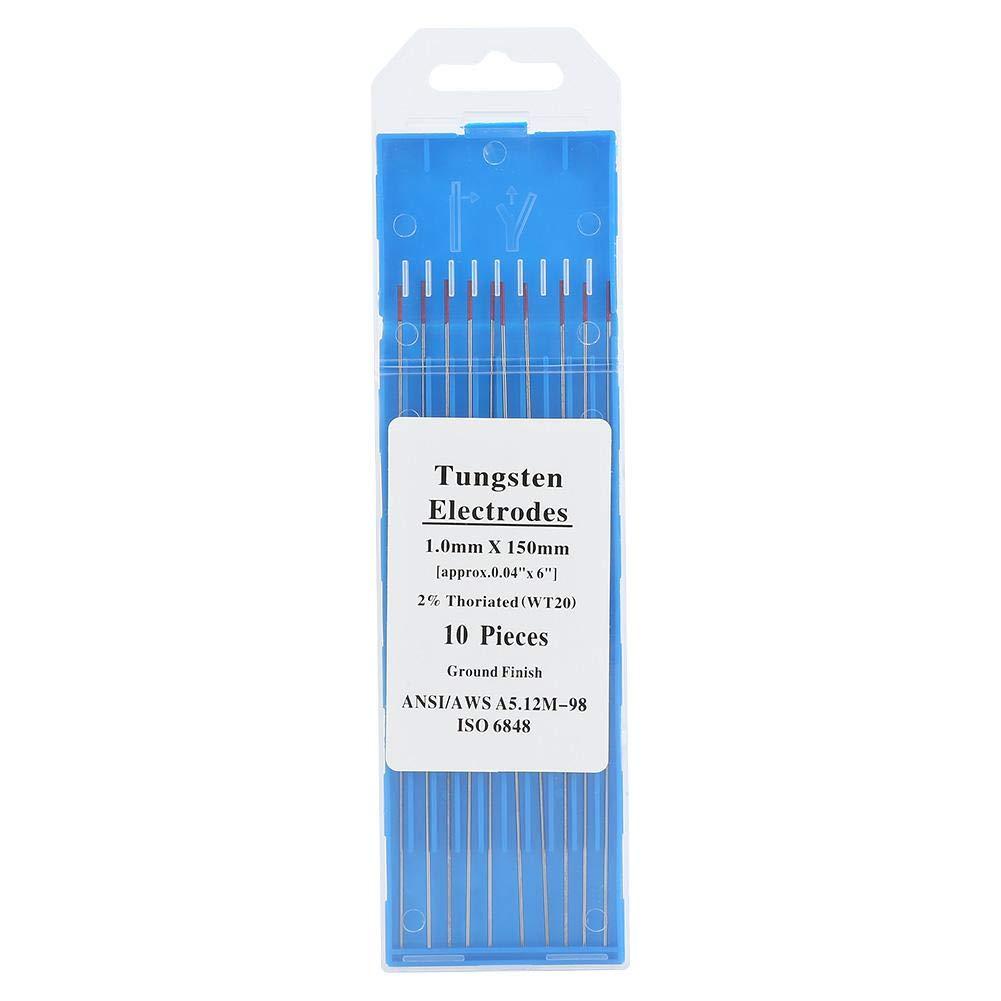 10 electrodos de tungsteno TIG 1.0mm* 150mm electrodos de tungsteno de soldadura Tig 2/% Thoriated para m/áquina de soldadura Tig 11 tama/ños