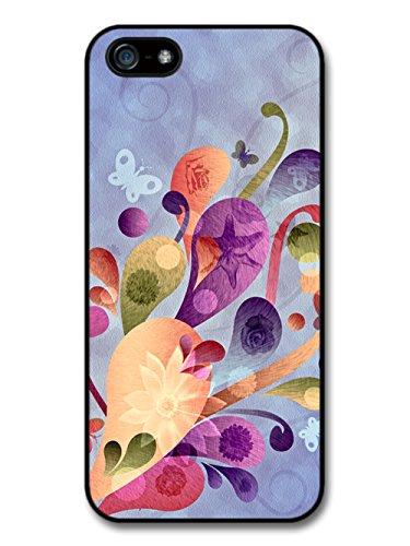 Flowers and Butterflies Pastel Warm Colour coque pour iPhone 5 5S