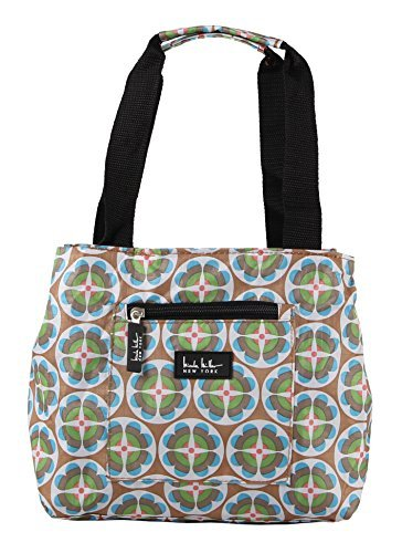 Nicole Miller of New York Insulated Lunch Cooler- Circle Flower/Tan 11 Lunch Tote (Circle Double Mini)