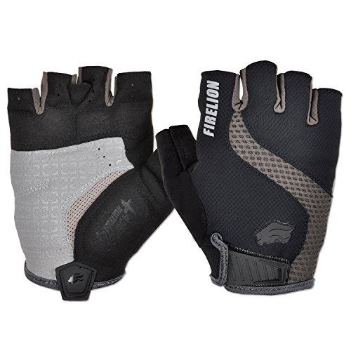 FIRELION Power+ Gel Foam Cycling Gloves Fingerless MTB Mountain Bike Gloves Half Finger Downhill Bike Bicycle Gloves Anti Skid Silicone Gloves