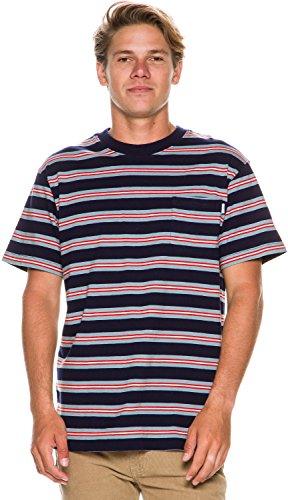 Afends Mens XL Navy Stripe