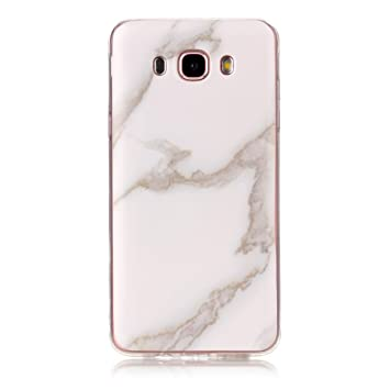 Meeter Funda para Samsung J7 2016, Samsung Galaxy J7 2016 Funda Silicona Mármol, Mármol Diseño Funda de Silicona Suave Case Cover Protección cáscara ...