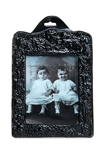 Holographic Changing Photograph Framed Creepy Vintage Prop Decoration Halloween (Black, gray) (Vintage Halloween Decoration Ideas)