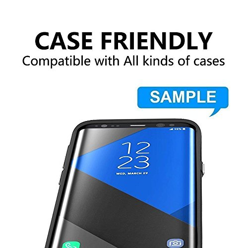 DeFitch [2 PACK] Galaxy S8 Tempered Glass Screen Protector, PREMIUM Strengthened Clear Anti-Bubble Scratch Proof for Samsung Galaxy S8 [Case Friendly] by DeFitch (Image #4)