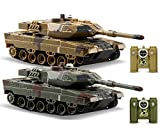 POCO DIVO 2-Set Infrared Battling Tanks M1A2 Abrams RC US Battle Tank 2.4G Radio Control Military Vehicle Pair