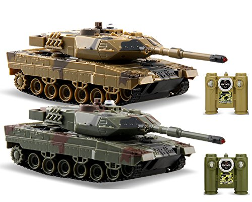 (POCO DIVO 2-Set Infrared Battling Tanks M1A2 Abrams RC US Battle Tank 2.4G Radio Control Military Vehicle)