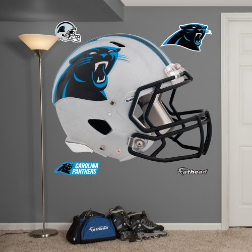 Fathead NFL Carolina Panthers Carolina Panthers: Helmet - Giant Officially Licensed NFL Removable Wall Decal