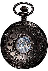 KS Men's Hollow Case Mechanical Pocket Watch Retro