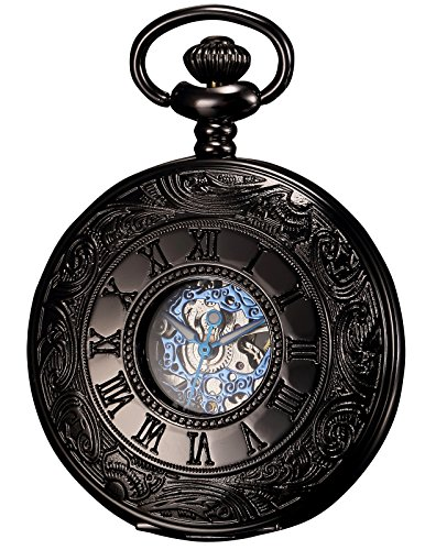 KS Men\'s Hollow Case Mechanical Pocket Watch Re...