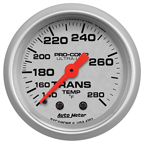 Auto Meter 4351 Ultra-Lite Mechanical Transmission Temperature (Mechanical Transmission Temperature Gauge)